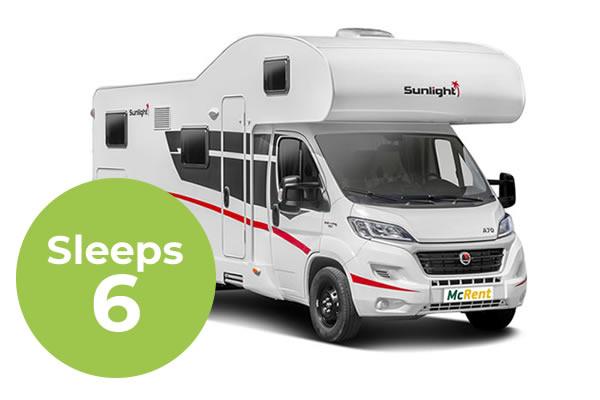 Family Luxury 6 Sleeper Campervan